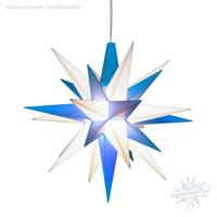 weiß-blaue Sternenkette